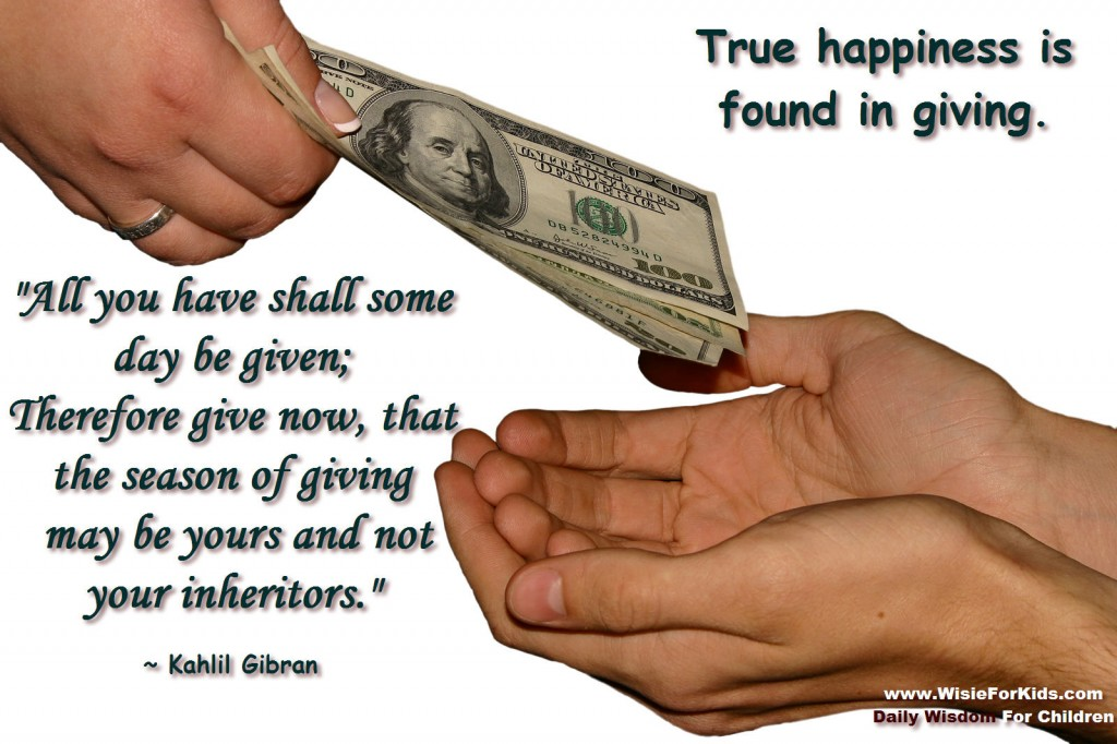 The Happiness of Giving - Wisdom For Children